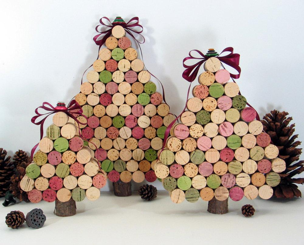 vendita usa online sconto fino al 60% codici promozionali Realizza un albero di Natale con i tappi di sughero ...