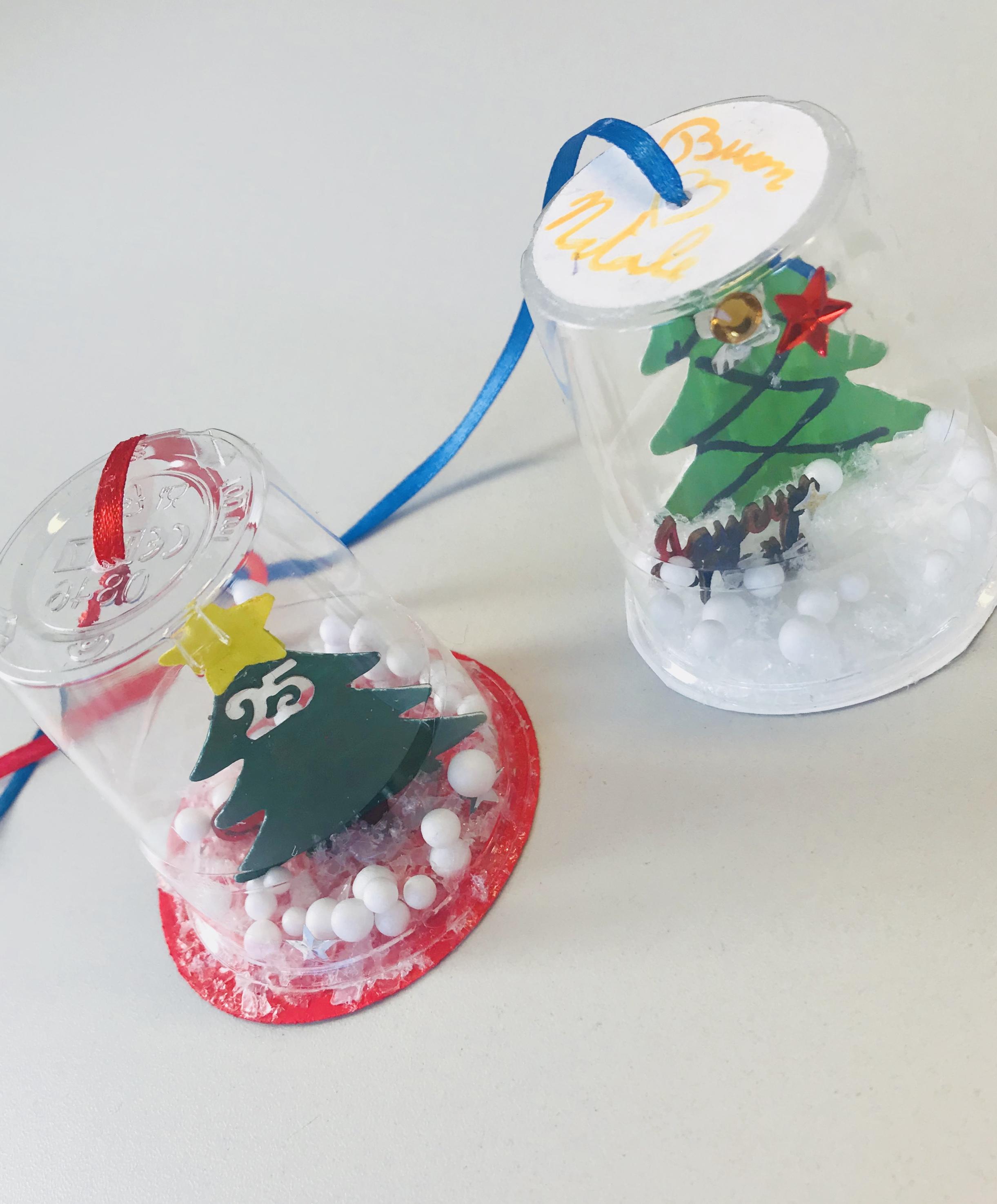 Lavoretti Di Natale Con Colla Vinilica.Lavoretto Natalizio Con I Bimbi La Palla Di Neve Fai Da Te